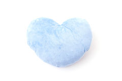 Blue heart pillow Stock Photo