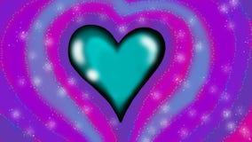 Blue heart Stock Image