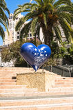 The Blue Heart in San Francisco Stock Photography