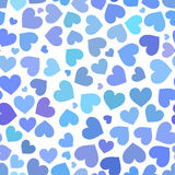 Blue heart seamless pattern on Valentines day Stock Photos