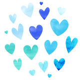 Blue heart set Royalty Free Stock Photo