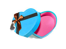 Blue Heart-shaped box Royalty Free Stock Photos