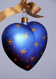 Blue Heart shaped Christmas Tree Ornament Stock Photos