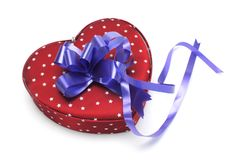 Free Blue Heart-shaped Gift Box Stock Images - 7015604