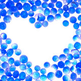Blue heart sharp frame. Blue gel heart sharp abstract frame background Stock Photography