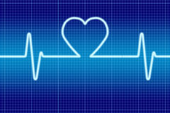 Blue heart singal Stock Image
