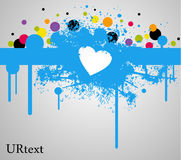Blue heart stain and paint Stock Photo