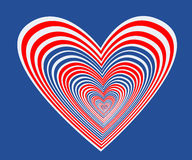 Blue heart with star. A heart in a blue background Stock Photos