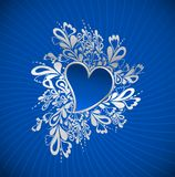 Blue Heart To The St.Valentine. Vector Stock Images