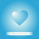 Blue heart Valentines Royalty Free Stock Photos