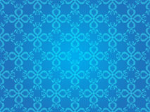 Blue Heart Vintage Art Vector Seamless Pattern Background Stock Photography