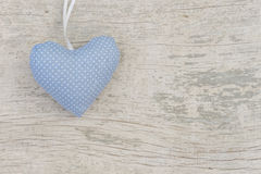 Blue heart with white dots Royalty Free Stock Image