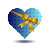 A blue hearted gift Royalty Free Stock Photo