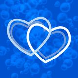 Blue hearts Stock Photos