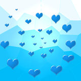 Blue hearts Stock Image