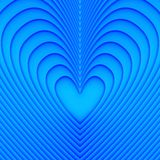 Blue hearts. Abstract background with blue hearts vector illustration