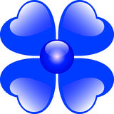 Blue Hearts Flower Royalty Free Stock Photo