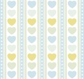 Blue hearts and strips Stock Photography