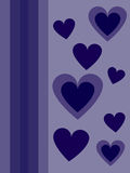 Blue hearts for Valentines day. Free postcard Stock Photo