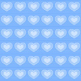 Blue hearts wallpaper. Background with seamless pattern made of hearts in blue colour Royalty Free Stock Photography