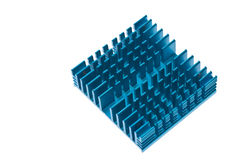Blue Heat Sink Royalty Free Stock Photos