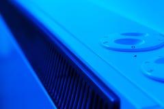 Blue heater. A heater of blue energy efficiency Stock Photo