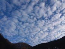 Blue heaven sky. Heaven sky in winter Stock Images