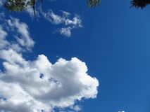 Blue Heaven. This a view of a blue sky with clouds ,showing the beauty of life we are blessed to have Royalty Free Stock Image