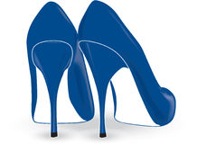 Blue Heels Royalty Free Stock Images