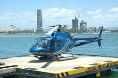 Blue Helicopter Royalty Free Stock Photos