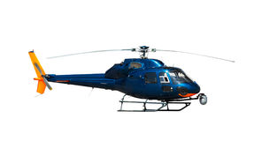 Blue helicopter Stock Photos