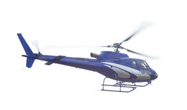 Blue helicopter isolated Stock Images