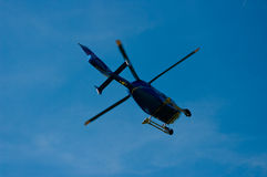 Blue helicopter. Royalty Free Stock Photo