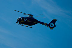 Blue helicopter. Stock Photography