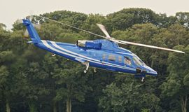 Blue helicopter Royalty Free Stock Images
