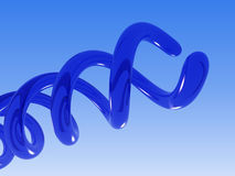 Blue helix. 3D royalty free illustration