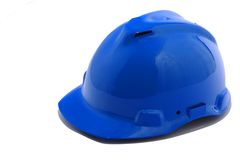 Blue helmet Royalty Free Stock Photography
