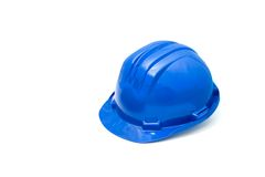 Blue helmet. Isolated safety blue helmet for workers Stock Images