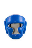 Blue helmet boxer Royalty Free Stock Photography