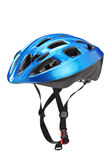 Blue helmet for byciclists Stock Photography