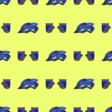 Blue Helmet and Gloves Seamless Pattern Royalty Free Stock Photography