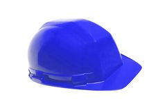 Blue helmet isolated on white Royalty Free Stock Image