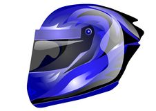Blue helmet Stock Photo
