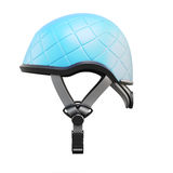 Blue helmet side view isolated on white background. 3d rendering Stock Photo