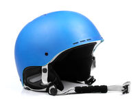 Blue helmet  on white Royalty Free Stock Image