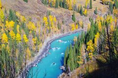 Blue Hemu river Stock Photos
