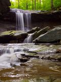 Blue Hen Falls, Cuyahoga Valley National Park, Waterfall in Forest Stock Image