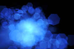 Blue Heptagon Bokeh Royalty Free Stock Photos