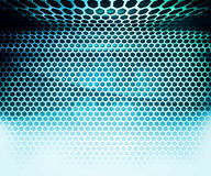 Blue Hex Grid Abstract Background Stock Photos