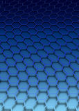 Blue hexagon royalty free stock photos
